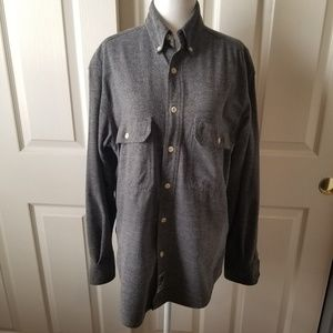 Gap Vintage 90's Gray Flannel Casual Fall Shirt